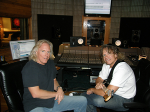 Tracking guitars - Ric Cabot Podmore and David Zycheck